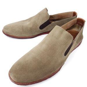 Johnston Murphy Men's Tan Suede Slip On Loafers